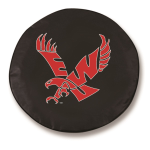 Eastern Washington Eagles Black Spare Tire Cover By HBS