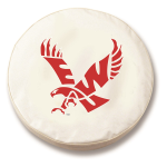 Eastern Washington Eagles White Spare Tire Cover By HBS