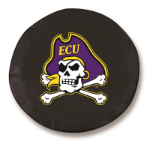 East Carolina Pirates Black Spare Tire Cover By HBS