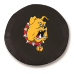 Ferris State Bulldogs Black Spare Tire Cover By HBS