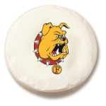 Ferris State Bulldogs White Spare Tire Cover By HBS