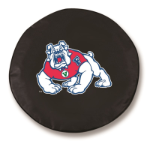 Fresno State Bulldogs Black Spare Tire Cover By HBS