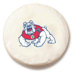 Fresno State Bulldogs White Spare Tire Cover By HBS