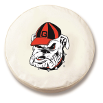Georgia Bulldogs White Spare Tire Covers By HBS