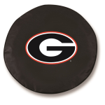 Georgia Bulldogs Black Spare Tire Covers By HBS