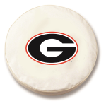 Georgia Bulldogs White Spare Tire Cover By HBS
