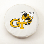 Georgia Tech Yellow Jackets White Tire Cover By HBS