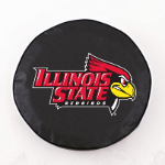 Illinois State Redbirds Black Spare Tire Cover By HBS