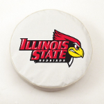 Illinois State Redbirds White Spare Tire Cover By HBS