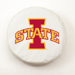 Iowa State Cyclones White Spare Tire Cover By HBS