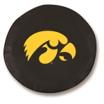 Iowa Hawkeyes Black Spare Tire Cover By HBS