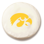 Iowa Hawkeyes White Spare Tire Cover By HBS