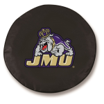 James Madison Dukes Black Spare Tire Cover By HBS