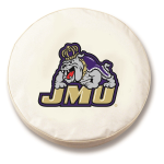James Madison Dukes White Spare Tire Cover By HBS