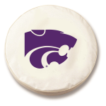 Kansas State Wildcats White Spare Tire Cover By HBS