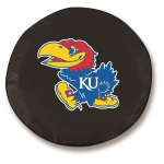 Kansas Jayhawks Black Spare Tire Cover By HBS