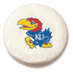 Kansas Jayhawks White Spare Tire Covers By HBS