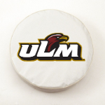 ULM Warhawks White Spare Tire Cover By HBS