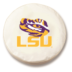 LSU Tigers White Spare Tire Cover By HBS