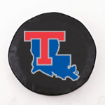 Louisiana Tech Bulldogs Black Spare Tire Cover By HBS