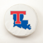 Louisiana Tech Bulldogs White Spare Tire Cover By HBS