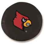 Louisville Cardinals Black Spare Tire Cover By HBS