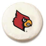 Louisville Cardinals White Spare Tire Covers By HBS