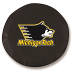 Michigan Tech Huskies Black Spare Tire Cover By HBS