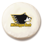 Michigan Tech Huskies White Spare Tire Cover By HBS