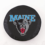 Maine Black Bears Black Spare Tire Cover By HBS