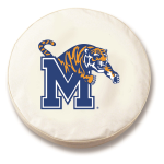 Memphis Tigers White Spare Tire Cover By HBS