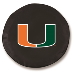 Miami Hurricanes Black Spare Tire Covers By HBS