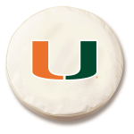Miami Hurricanes White Spare Tire Cover By HBS