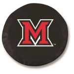 Miami of Ohio RedHawks Black Tire Cover By HBS