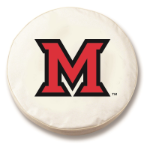 Miami of Ohio RedHawks White Tire Cover By HBS