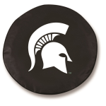 Michigan State Spartans Black Spare Tire Cover By HBS