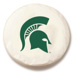 Michigan State Spartans White Spare Tire Covers By HBS
