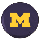 Michigan Wolverines Blue Spare Tire Cover By HBS