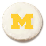 Michigan Wolverines White Spare Tire Covers By HBS