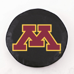 Minnesota Golden Gophers Black Spare Tire Cover By HBS