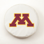 Minnesota Golden Gophers White Spare Tire Cover By HBS