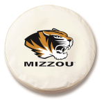 Missouri Tigers White Spare Tire Cover By HBS