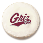 Montana Grizzlies White Spare Tire Cover By HBS