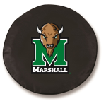 Marshall Thundering Herd Black Spare Tire Cover By HBS