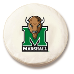 Marshall Thundering Herd White Spare Tire Cover By HBS