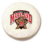 Maryland Terrapins White Spare Tire Cover By HBS