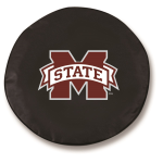 Mississippi State Bulldogs Black Spare Tire Cover By HBS