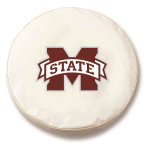 Mississippi State Bulldogs White Spare Tire Cover By HBS