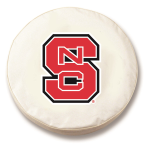 NC State Wolfpack White Spare Tire Cover By HBS