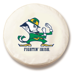 Notre Dame Fighting Irish White Tire Cover By HBS